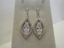 "Nolan Miller White Hot Drop Simulated Diamond Earrings 1-1/2"""