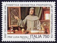ITALIA 1994 - FRA' LUCA PACIOLI - L. 750 - MNH