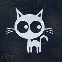 Funny Cartoon Cat Car Or Wall Decal Vinyl Sticker