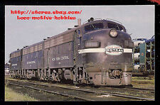 Postcard  NEW YORK CENTRAL System  F7 A-B-A  NYC #1819  Cigar Band Livery 1960's