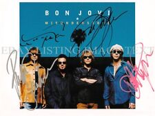 BON JOVI BAND AUTOGRAPHED 8x10 RP PHOTO JON CLASSIC ROCK