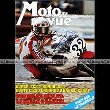 MOTO REVUE N°2314 HONDA CB 125 T OSSA DESERT HUSQVARNA 250 WR YVON DUHAMEL 1977