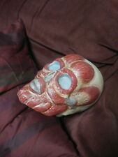 Medical Model Skull Muscles Creepy Vintage Halloween Decoration Weird Art Neat