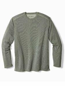 Tommy Bahama Men's Sz 2XL-Big Flip Tide Island Zone LS T-Shirt-Reversible Moss