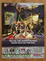 Vintage Mobile Suit Gundam Figures 2002 Poster Ad Art Print Official Promo Sotsu