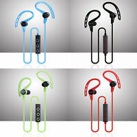 Bluetooth 4.1 Sport Headset Earbuds Stereo Headphone Earphone iPhone Galaxy -053