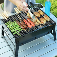 BARBECUE GRILL PORTABLE FOLDING CHARCOAL CAMPING GARDEN OUTDOOR BBQ COOKING FUN