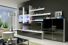High Gloss Wall Unit Living Room Wardrobe Sideboard Wohnwände Storage Items