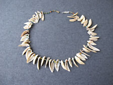 Vintage real shells & color micro glass beads necklace