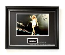 More details for celine dion hand signed high res music photo in luxury handmade wooden display