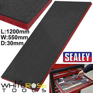 Sealey Easy Peel Shadow Foam Red/Black 1200 x 550 x 30mm Tool Box Tray Insert