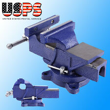 """5"""" Bench Vise Heavy Duty Clamp 360 Swivel Locking Base Vice Tool Woodworking Jaw"""