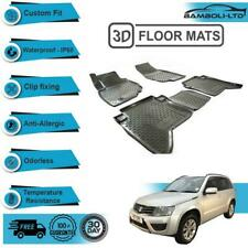 4 Pcs 3D Molded Floor Mats FIT for Suzuki Grand Vitara 2015-2019 (Black)
