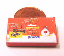 1:12 Empty Maltesers Christmas Selection Packet Doll House Miniature Accessory N