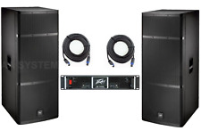 EV ELX215 live x + Peavey CS1400 power amplifier complete Band pa system 1400W