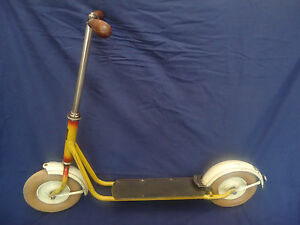 Antique Unique Rare Germany DOBLINA Kick Scooter 1960 - Original Kinderroller