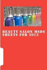 Beauty Salon MSDS Sheets for 2013