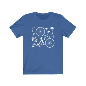 Road Bicycle Parts T-Shirt, Tour de France, Cycling Clothing, Cycling gifts