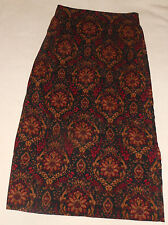 Briggs Skirt Black Paisley Floral A Line Full Length Pleated Size 4 Womens