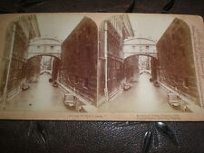 Stereoview photograph Bridge of Sighs Venice Italy by Underwood 1891