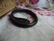 Antique Victorian Vintage Snake Bangle carved from Horn