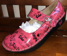 Alegria Happy Pink SZ 39 / 8.5-9 Breast Cancer WORN 1 Time EXCELLENT CONDITION!!