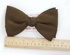 Vintage Original Men's Clip Grip On Bow Tie Olive Green CLASSIC Dapper USA Made