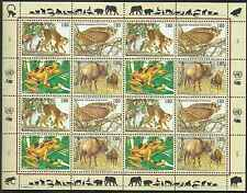 Timbres Animaux Nations Unies Genève F 283/6 ** année 1995 lot 4148