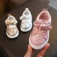 Baby Kid Girls Boys Bling Sequins Bowknot Crystal Sport  Shoes Children Sneakers