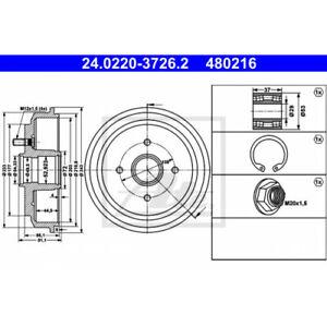 ATE 24.0220-3726.2 - Bremstrommel