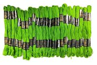 Rangoli Embroidery Cotton Threads Floss Sewing Crafts Skeins Knitting 25 Pcs