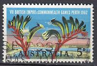 Australien Briefmarke gestempelt 5c Commonwealth Games Perth 1962 Sport / 133