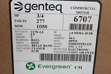 Genteq Evergreen CM Motor 6707 3/4 HP 277V