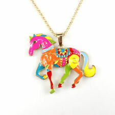 BETSY JOHNSON MULTI-COLORED HORSE NECKLACE - NWT