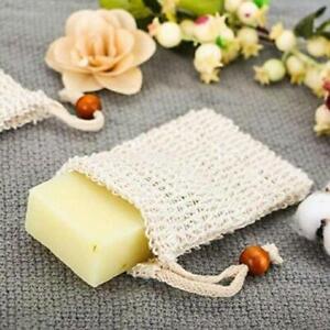 10 X Natural Sisal Soap Bags Soap Saver Mesh Pouch Drawstring Zero Waste A 8Y5U