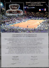 Russia-2003 Tennis Davis Cup. Silver, certificate 25.00€