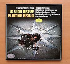 DG 2707 108 Falla La Vida Breve El Amor Brujo Berganza Navarro 2xLP Box Set NM