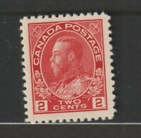 CANADA #106 Admiral 2c carmine  XFNH ex Ames collection