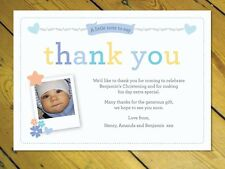 25 Personalised Thank you notes Naming Day Christening Birthday