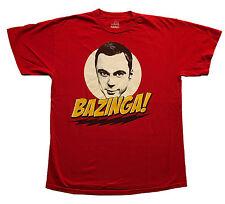 BAZINGA! Sheldon Big Bang Theory Red T-Shirt Sz.M