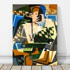 "JUAN GRIS Art - Harlequin With Guitar CANVAS PRINT 24x18"" - Cubist, Cubism"