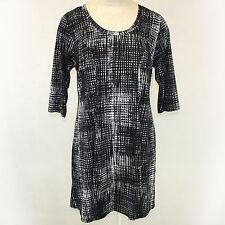 NEW Karen Kane Plus Size Geometric Print Black Stretch Dress 2X Made in USA