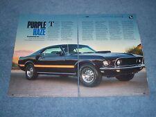"""1969 Mustang Mach 1 Article """"Purple Haze"""" 428SCJ Drag-Pack Purple Paint"""