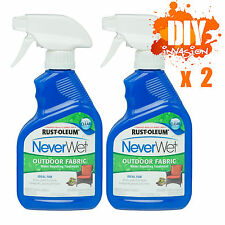 NeverWet Never Wet Rust-Oleum 2 x Outdoor Fabric Waterproof Coating Clear Spray