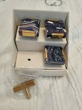 Marble Ceramic Gold Drawer Door Knobs Upcycle Furniture Pulls blue brass gold