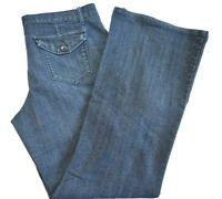 Daisy Fuentes Moda Women's Size 12 Raw Rinse Denim Casual Dress Slacks Pants