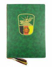 #e6569 Große grüne Urkundenmappe der DDR aus dem Jagdwesen Abbildung Hirsch