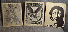 "3 Literary Magazines ""Stash"" Richard King High School 1970s Corpus Christi TX"