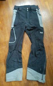 🔥 Helly Hansen Legendary Insulated Ski Snow Pants Mens Small Black RECCO Pants