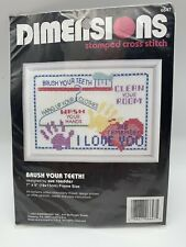 Dimensions Stamped Cross Stitch Kit~BRUSH YOUR TEETH,Clean Room,More~Sue Roedder